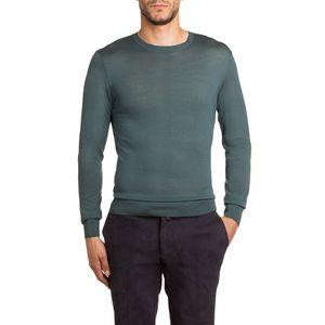 Pullover slim fit in lana merino