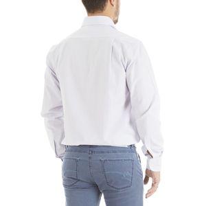 Italian collar shirt with striped pattern