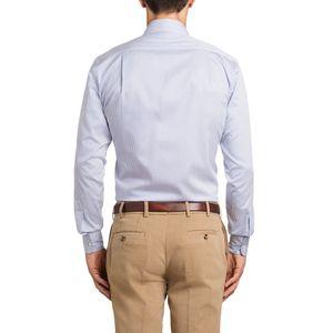 Italian collar shirt with blue stripes