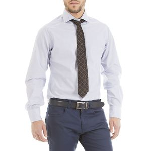 Half French collar shirt with micro pattern