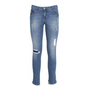 Jeans ultra-skinny in denim washed