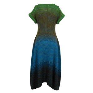 Multicolored striped maxi dress