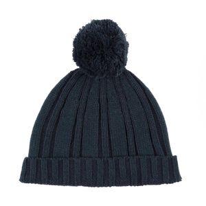 Cuffia in misto lana vergine con pon pon