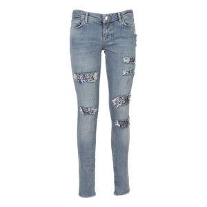 Ultra skinny jeans con inserti in pizzo