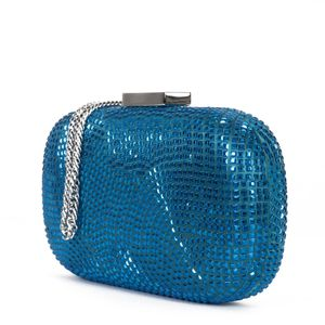 Rigid clutch bag with color matched studs
