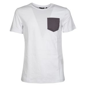 T-shirt with diamond patterned pocket