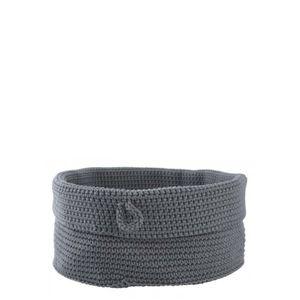 Round gray basket in
