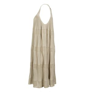 Golden pleated dress
