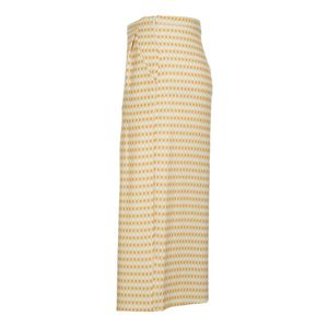 Culottes with yellow micro-pattern