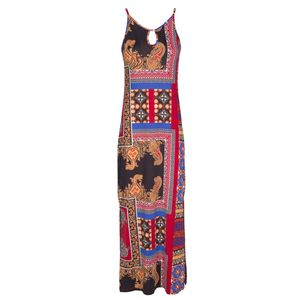 Long dress with entica pattern