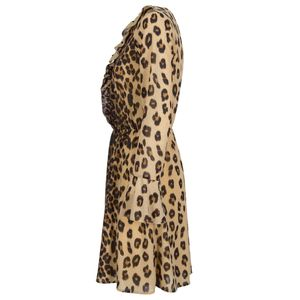 Zalini animalier dress with ruffles
