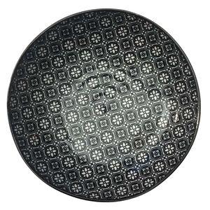Nippon Black handmade pasta plate print