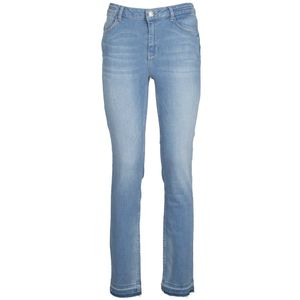 Jeronimo jeans in denim with raw hem at the ankles