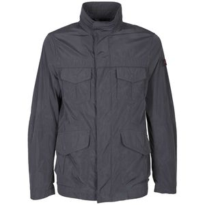 Field jacket with 4 front pockets in taffet√ †