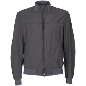 Bomber jacket in ripstop fabric with micro pattern
