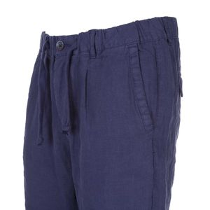 Linen trousers with drawstring at the waist