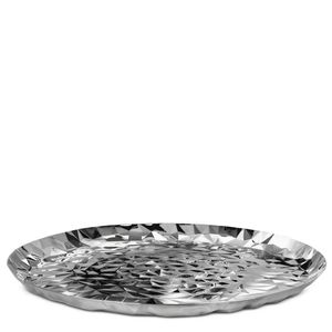 Round tray in stainless steel - Joy n.