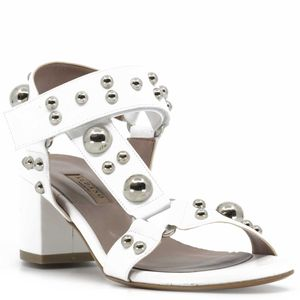 Open toe sandal with applied studs