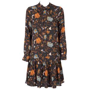 Valbona dress with orange floral print
