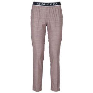 Pantalone pied de poule colorato con elastico