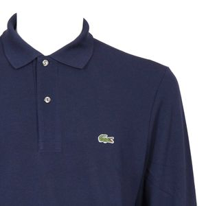 Polo with long sleeves in