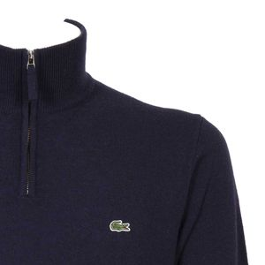 Sweatshirt with stand-up collar and short zip