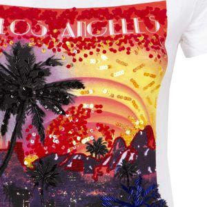 T-shirt con stampa città americane