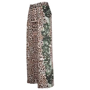 Pantaloni lunghi leopardati
