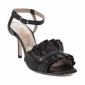 Gardenia black sandal with rouges made in Italy