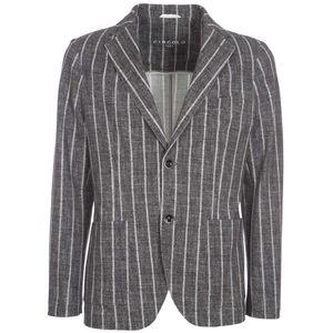 Piquet dark gray striped jacket