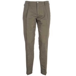 Pantaloni classici in misto lino slim fit