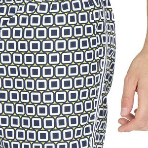 Swim trunks with checked pattern