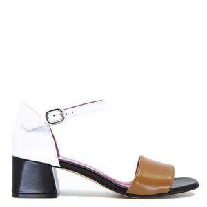 Sandalo in nappa tricolore