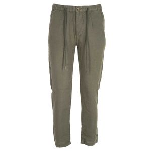 Solid color linen trousers
