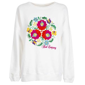 Floral crewneck pullover