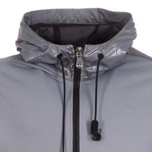 Fleece and nylon bomber jacket
