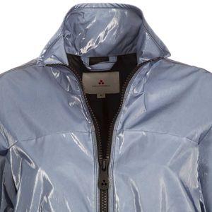 Waterproof jacket in shiny cotton