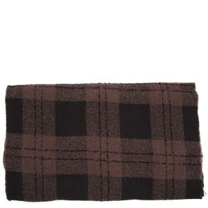 Checked cashmere blend scarf