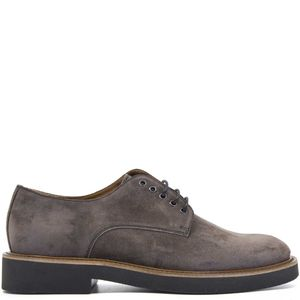 Brown derby in suede leather