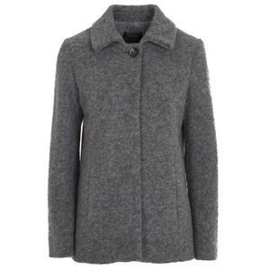 Boiled wool coat with button
