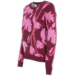 Maglione in misto lana con stampa floreale