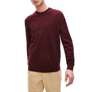 Pure virgin wool pullover with logo