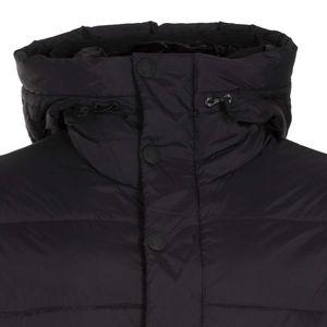 Black padded jacket with hood
