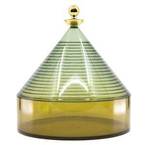 Trullo container green and transparent yellow