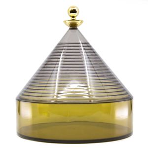 Transparent dark yellow Trullo container