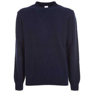 Crewneck sweater with ribbed collar
