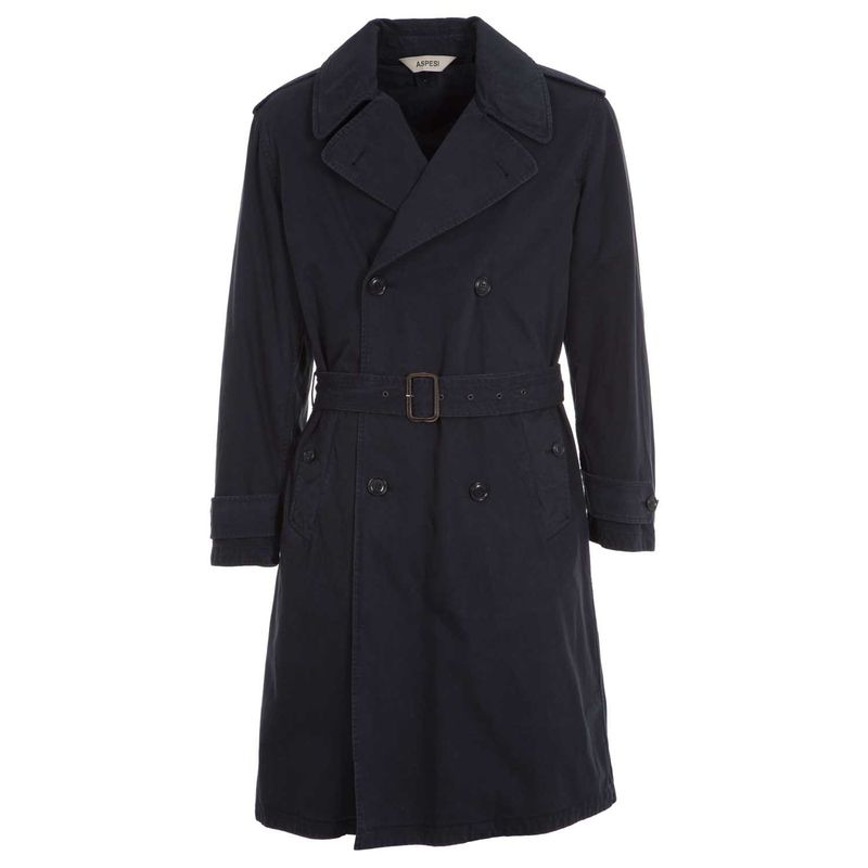 Trench_blu_navy_in_cotone_pesante_XS_1