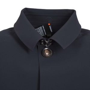 Laser cut shirt collar coat