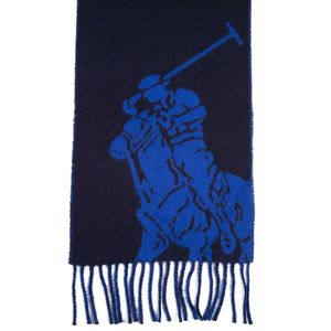 Blue and electric blue Echo scarf