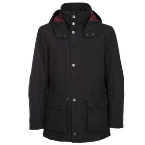 Long black lined jacket